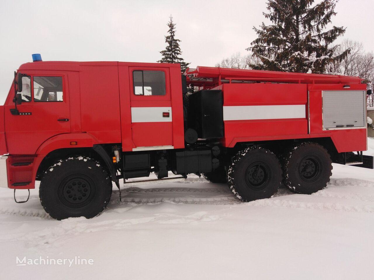 новая пожарная машина МАЗ 6317