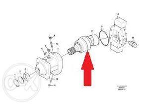 гидромотор VOLVO VOE14385189 (VOE14385189) для экскаватора VOLVO EW180